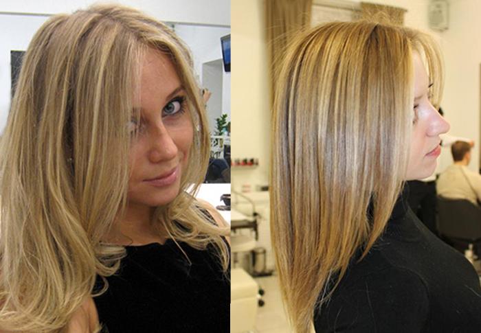 Фото мелированные светлые волос