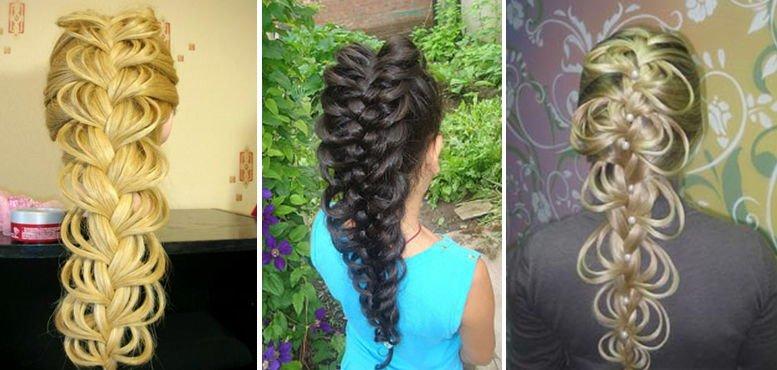 Причёски плетение на длинный волос фото