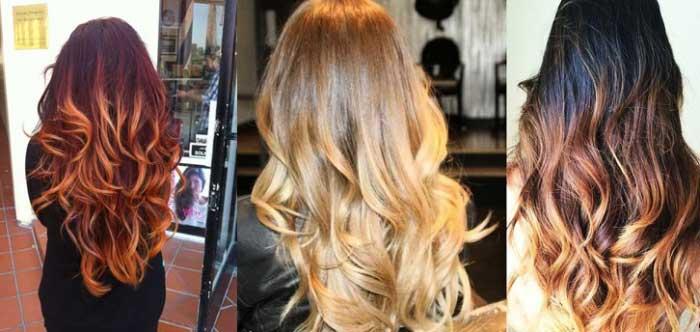 Разновидность омбре для волос