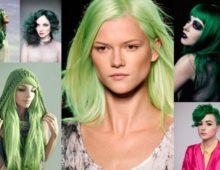 Зеленые волосы — необычный цвет для поклонниц экспериментов